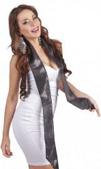 Schwarzer Schal mit Pailletten für Erwachsene