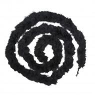 Spiralförmige schwarze Federn Hängedeko