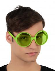 Grüne Faschingsbrille