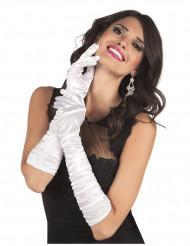 Lange seidig glänzende Handschuhe für die Dame