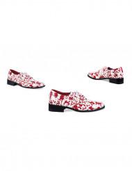 Blutverschmierte Schuhe
