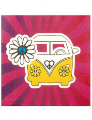 12 Papierservietten - Hippie-VW
