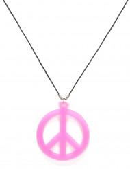 Rosa Hippiekette für Erwachsene