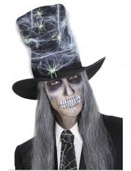 Zylinder mit Spinnennetz und Spinnen Halloween für Erwachsene