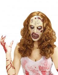Halloween Maske und Perücke Zombie
