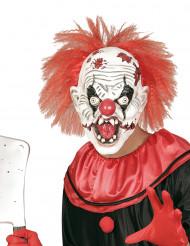 Halloween Maske Killerclown mit Haaren