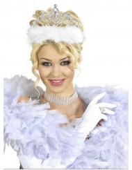 Prinzessin Diadem mit weißem Fellbesatz