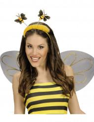 Haarreif Biene aus Plüsch