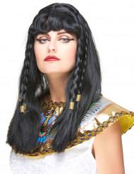 Kleopatra Perücke mit Zöpfen für Damen