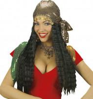 Zigeunerin-Perücke mit Kopftuch