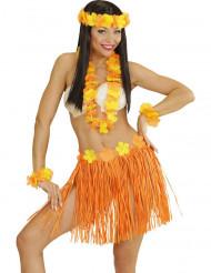 Hawaï Kostüm-Set für Erwachsene in orange-gelb
