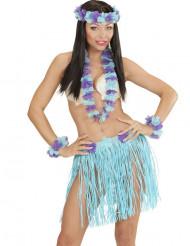 Blau-violettes Hawaii-Outfit für Damen