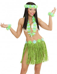 Hawaii-Set in grün-blau