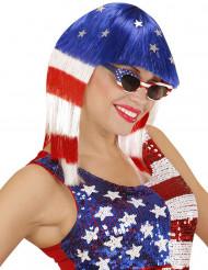 Miss Amerika-Perücke für Damen
