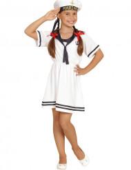 Matrosin-Kostüm in Weiß für Mädchen