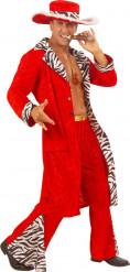 Lebemann-Kostüm in Rot für Herren