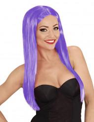 Violette Glamour Perücke für Damen