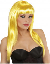 Glamouröse, gelbe Perücke für Damen