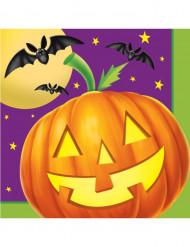 16 Papierservietten Kürbis bei Nacht - Halloween