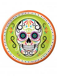 8 Teller Dia de los Muertos