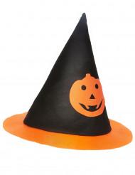 Hexenhut mit Kürbis für Kinder Halloween