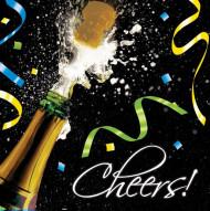 16 Champagner Papier Servietten