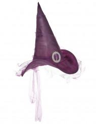 Violetter Hexenhut für Erwachsene