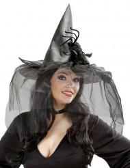 Hexen Hutmit Spinne und Tüll Halloween für Damen