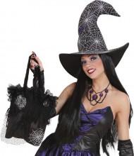 Tasche mit Spinnenweben für Halloween