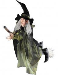 Hexenfigur auf Besen - Halloween