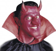 Rote Teufelshörner mit Kleber für Erwachsene - Halloween