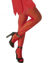 Rote Strumpfhose mit Flammen