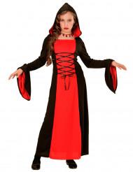 Komtesse -Kostüm in Rot und Schwarz für Mädchen Halloween