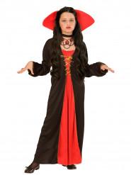 Gräfin-Kostüm mit breitem Kragen für Mädchen
