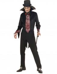 Vampir Kostüm für Herren mit leuchtender Fliege