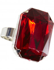 Vampir-Ring verstellbar edles Schmuckstück silber-rot