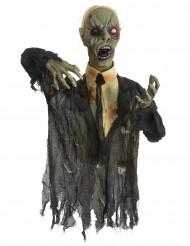 Animierte Zombie Dekoration für Halloween, leuchtend und lärmend, 140 cm