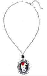 Silberne Halloween-Halskette mit Anhänger für Erwachsene