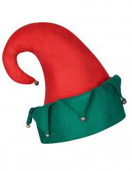 Weihnachtskobold-Mütze mit Glöckchen