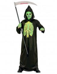 Fluoreszierendes Sensenmann-Kostüm für Kinder