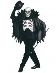 Skelett-Kostüm mit Umhang
