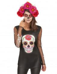 T-Shirt Skelett Dia de los Muertos für die Frau