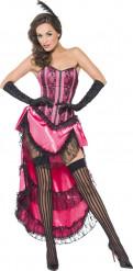 Sexy rosa Kostüm einer Cabaret-Tänzerin