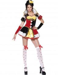 Sexy Kostüm als Königin der Herzen für Frauen