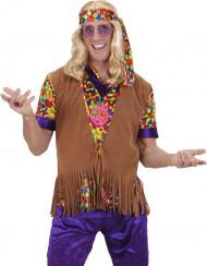 Hippie Weste für Herren mit Fransen