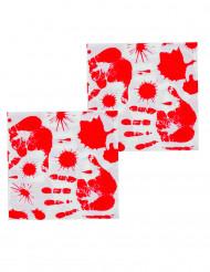 12 blutige Papier Servietten - Halloween