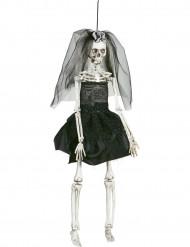 Dekoration schwarze Braut 42 cm Halloween