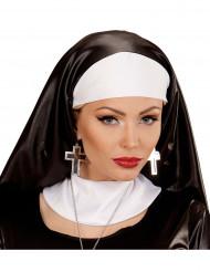 Kreuz-Ohrringe schwarz silbern für Damen