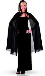 Schwarzes Pailletten-Cape für Damen