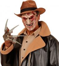 Mördermaske mit verbranntem Gesicht Halloween